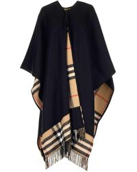 Burberry Check-lined Cape - Black