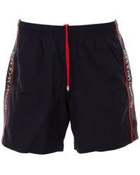 Alexander McQueen Side Stripe Swim Shorts - Black