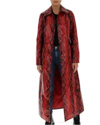 Stand Studio Mollie Long-line Coat - Red