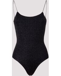 Oséree Maillot Lurex One-piece Swimsuit - Black