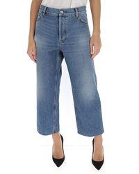 Balenciaga Cropped Denim Jeans - Blue