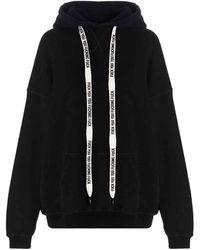 R13 Drawstring Oversized Hoodie - Black