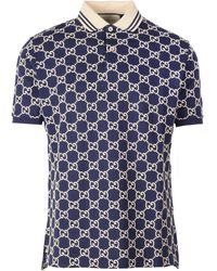 Gucci Gg Polo Shirt - Blue