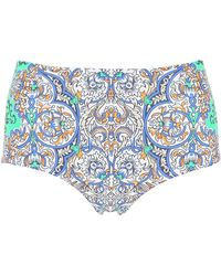 Tory Burch - Printed High-waisted Bikini Bottoms - Lyst