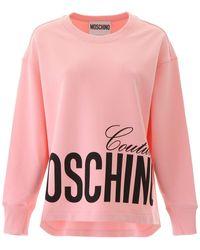Moschino Couture Print Sweatshirt - Pink
