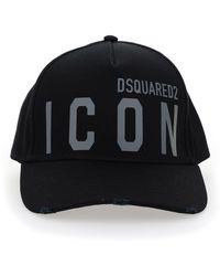DSquared² Reflective Icon Baseball Cap - Black