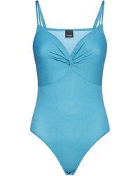 Pinko Shimmery Twist Detail Bodysuit - Blue