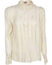 Bottega Veneta Sheer Striped Shirt - White