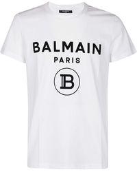 Balmain Logo-printed T-shirt - White