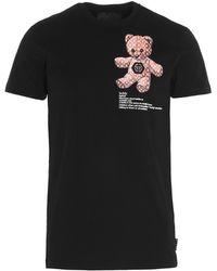 Philipp Plein Teddy Bear Print T-shirt - Black