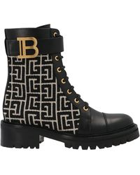 Balmain Romy Jacquard Boots - Black