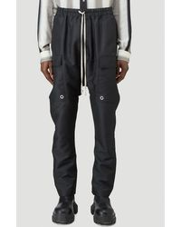 Rick Owens Drawstring Cargo Trousers - Black