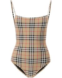 Burberry Archive Check One-piece Swimsuit - Multicolour