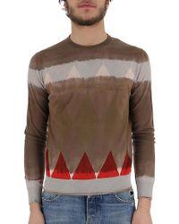 Ballantyne Spray Diamond Sweater - Brown