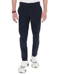 Prada Slim-fit Chino Trousers - Blue