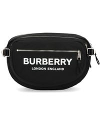 Burberry Logo Zipped Belt Bag - Black