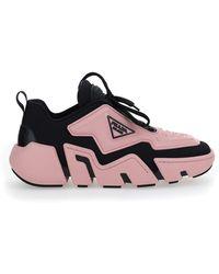 Prada Techno Stretch Trainers - Pink