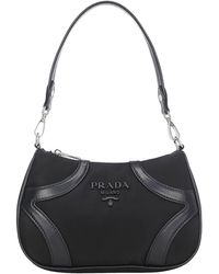 Prada Tessuto Small Shoulder Bag - Black