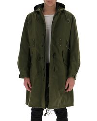 Junya Watanabe Backpack Hooded Parka - Green