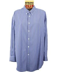 Balenciaga Over Sized Tag Shirt - Blue