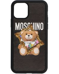 Moschino Teddy Frame Iphone 11 Pro Max Case - Black