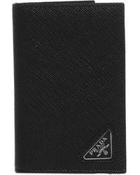 Prada Triangle Logo Bifold Wallet - Black