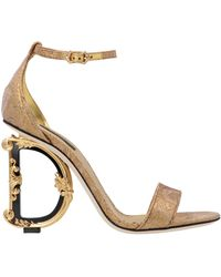 Dolce & Gabbana Dolce E Gabbana Women's Cr0739ao70880997 Gold Other Materials Sandals - Metallic
