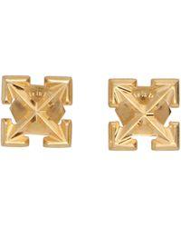 Off-White c/o Virgil Abloh Mini Arrow Stud Earrings - Metallic