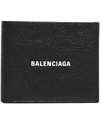 Balenciaga Lether Bifold Wallet - Black
