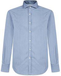 Brunello Cucinelli Fitted Denim Shirt - Blue