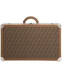 Fendi Ff 1974 Truck Suitcase - Brown