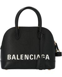 Balenciaga Ville Small Top Handle Handbag - Black