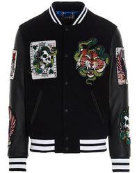Philipp Plein Tattoo Embroidered Jacket - Black