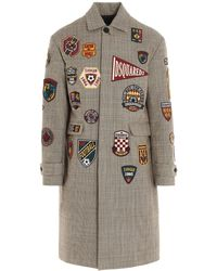 DSquared² Football Patches Coat - Multicolor