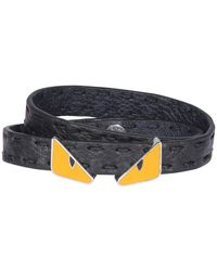 Fendi Two-tone Bracelet - Black