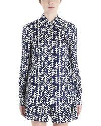 Prada Geometric Pattern Shirt - Blue