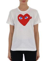 COMME DES GARÇONS PLAY Double Heart T-shirt - White
