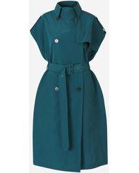 Givenchy Sleeveless Trench Coat - Green