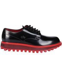 Dolce & Gabbana Logo Detail Lace-up Shoes - Black