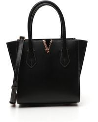 Versace Virtus Large Tote Bag - Black