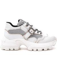 Miu Miu Chunky Sole Strap Sneakers - White