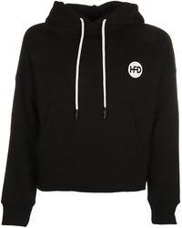 Honey Fucking Dijon X Comme Des Garçons Logo Print Hoodie - Black