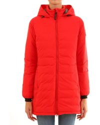 Canada Goose Camp Padded Hooded Jacket - Red