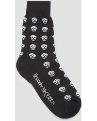 Alexander McQueen Allover Skull Socks - Black