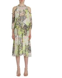Opening Ceremony Floral Pearl Edge Dress - Green