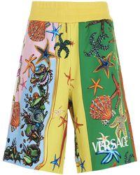 Versace Trésor De La Mer Printed Bermuda Shorts - Green