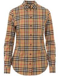 Burberry Vintage Check Shirt - Natural