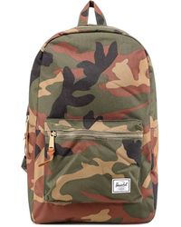 Herschel Supply Co. Camouflage Print Logo Patch Backpack - Multicolour
