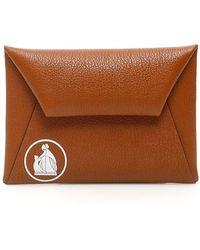 Lanvin Envelope Clutch - Brown