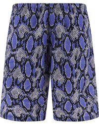 Needles Python Print Nylon Swim Shorts - Blue